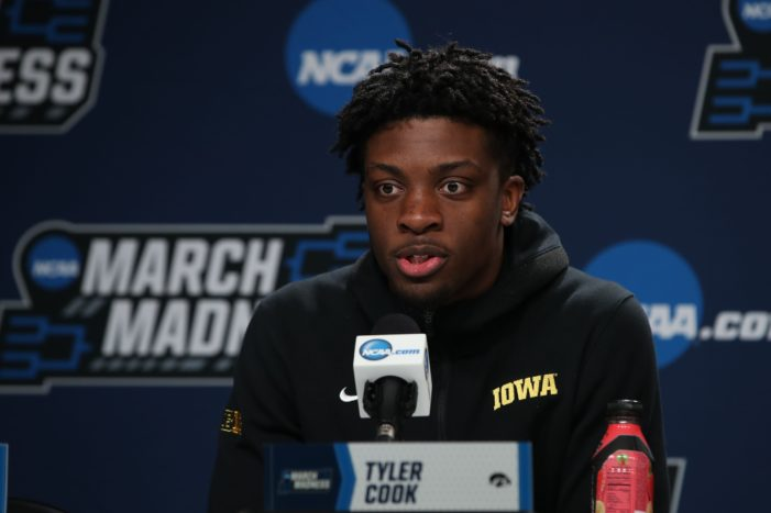 Iowa's Cook enjoying first chance in the NCAA Tournament