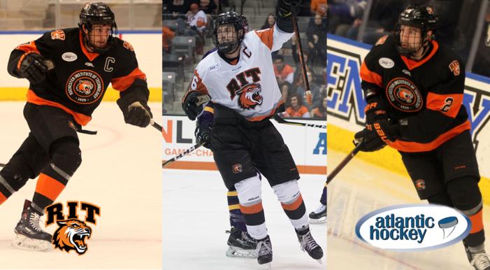 Trio of RIT men's hockey standouts earn 2018-19 Atlantic Hockey Regular Season honors