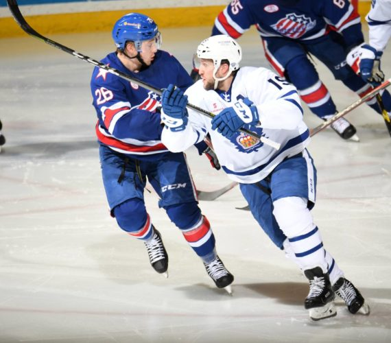 Despite early blitz, Amerks fire blanks and lose opener to Marlies