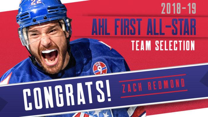 Amerks defenseman Zach Redmond named AHL First Team All-Star