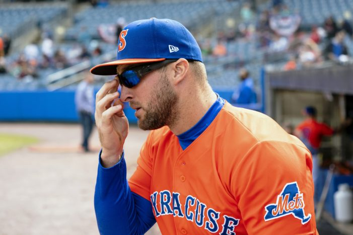 Tim Tebow: healthy eating and a healthier appetite to succeed on the diamond