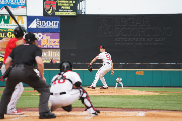 Just-promoted Poppen helps Wings gain split with Pawtucket