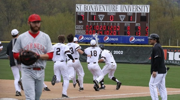 Bonnies walk off in extra innings to beat Cornell