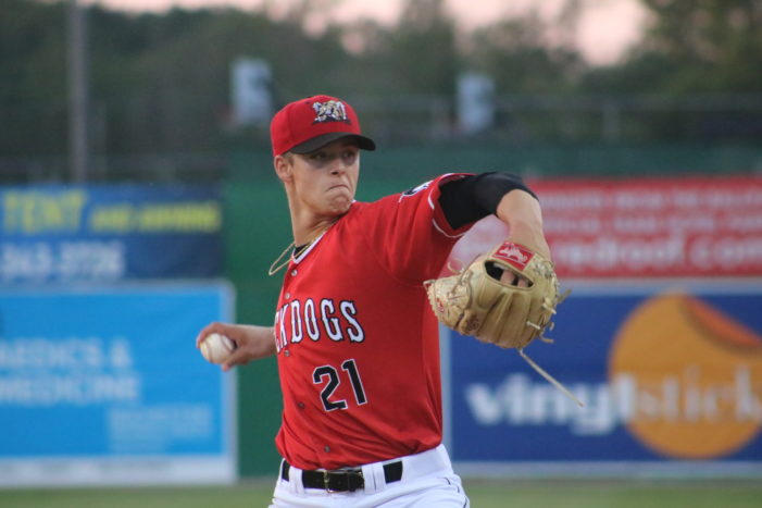 Muckdogs pitchers toss 1-hitter in 1-0 win
