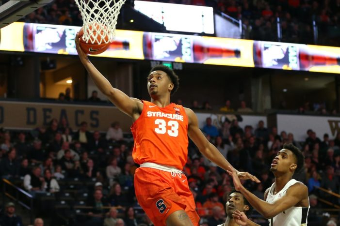 Elijah Hughes' career-high 33 carries Syracuse past Georgia Tech, 97-63
