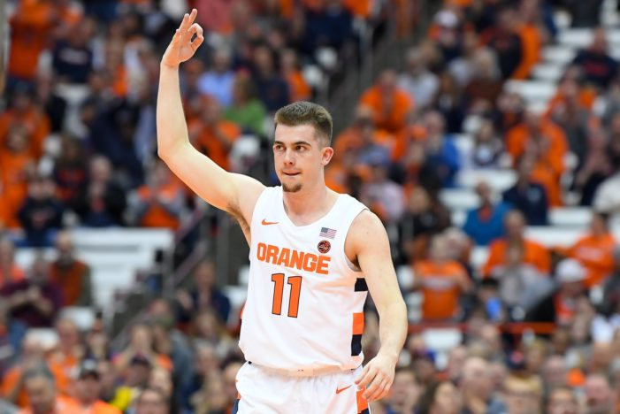 Joe Girard III to start at point guard for Syracuse against Seattle