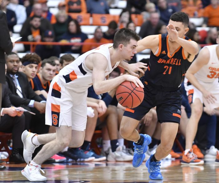 Syracuse 97, Bucknell 46: Takeaways from SU's 4th-straight win