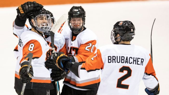 RIT downs Mercyhurst with seven goals in two periods
