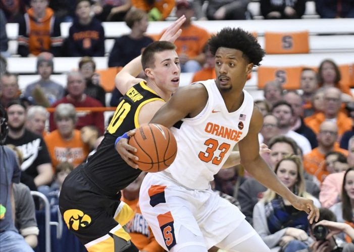 Syracuse's offense comes up short again in 68-54 loss to Iowa