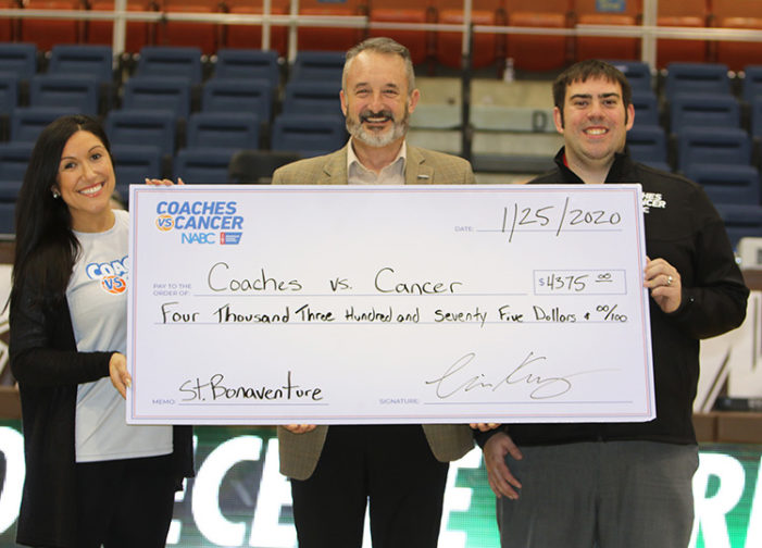 St. Bonaventure donates more than $4,000 toward Coaches vs. Cancer through fan support