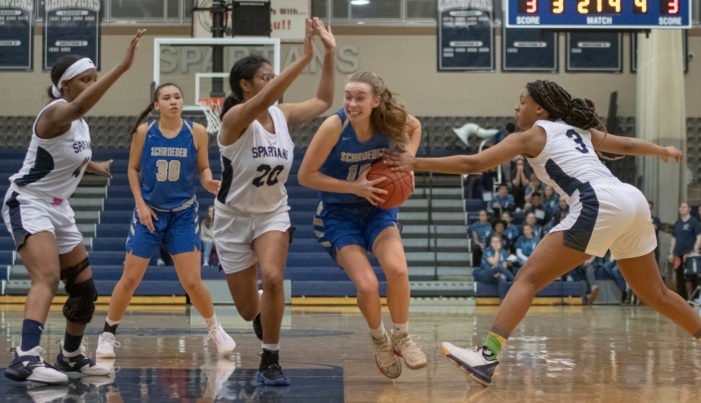 Gates girls hold off late Schroeder rally