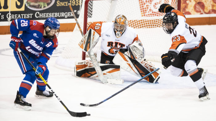 Matthews shines in first career start as RIT upends No. 13 UMass-Lowell