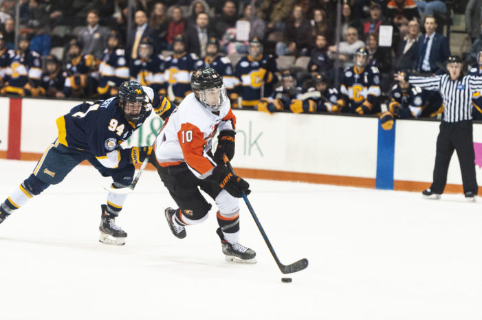 RIT after four-goal third period: 'We weren't letting down the alumni'
