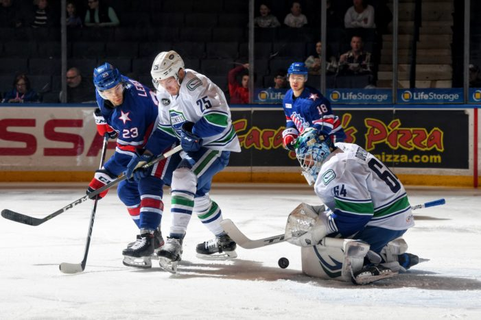 Amerks force overtime, fall in shootout to Utica