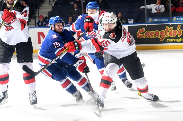 Amerks offer little resistance to streaking Devils