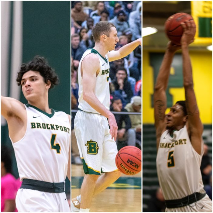 Section V trio part of Brockport Golden Eagles squad that has tourney run stopped in Sweet 16