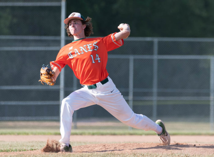 ICBL Sunday: Taylor leads DP Orange with arm and bat; DeJohn, Nucci pitch Cardinals to sweep