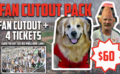 """Grab a Seat"" at Frontier Field with Fan Cutout Pack"