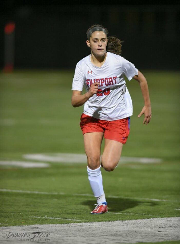 Early goal, clean sheet guide Fairport girls into sectional final