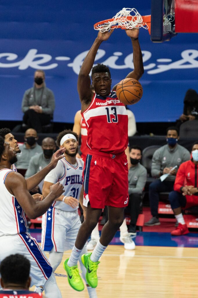 Thomas Bryant, Wizards unable to contain Embiid, Sixers' offense