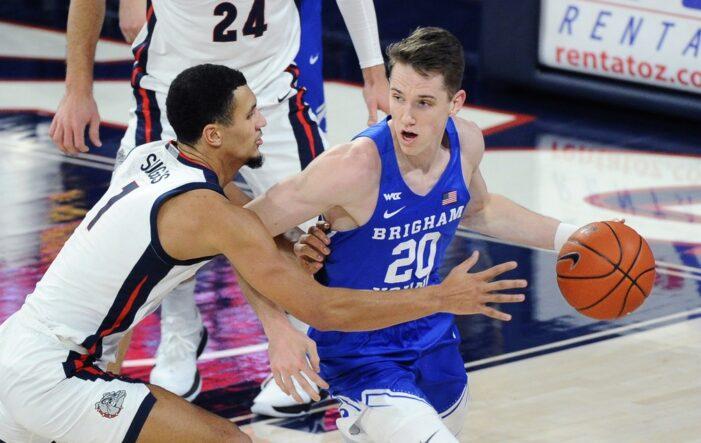 Top 25 Wrap: Gonzaga rolls BYU; Wisconsin survives Indiana in 2OT