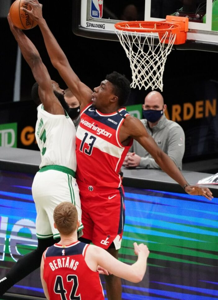 Thomas Bryant held to season-low seven points in Wizards' defeat in Boston