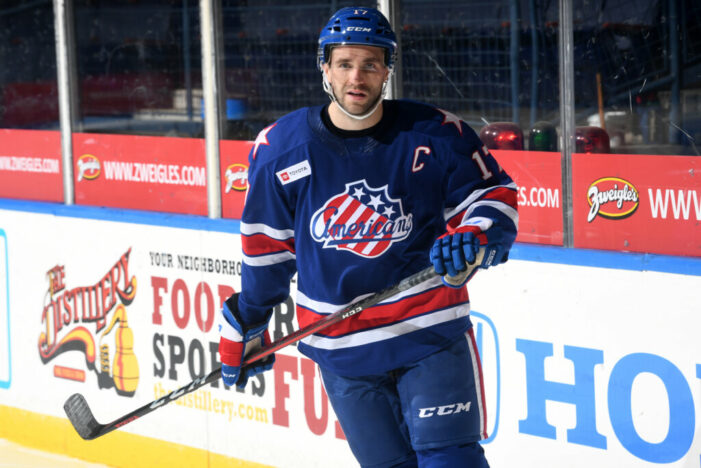 Fogarty's fluke OT goal provides victory for Amerks
