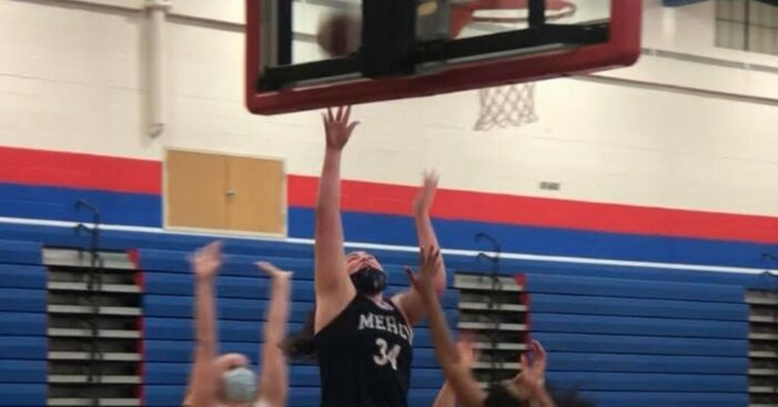 Mercy's Whitaker double-doubles in season-opening win at Fairport
