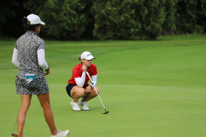 Former Oklahoma State star Emma Broze leads Danielle Downey Classic after two rounds